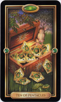 Gilded Tarot, 10 of Pentacles