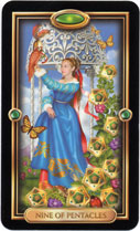 Gilded Tarot, 9 of Pentacles