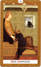 Golden Tarot Emperor