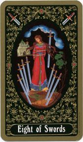 Russian Tarot of St. Petersburg, 8 of Swords