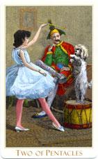 Victorian Tarot, 2 of Pentacles