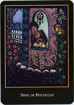 World Spirit Tarot, 9 Pentacles