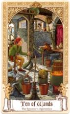The Fairytale Tarot, Ten of Wands