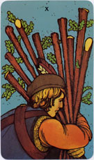 Morgan-Greer Tarot, Ten of Wands