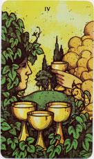 Morgan-Greer Tarot, Four of Cups