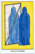 Tarot of the Crone, Two of Swords