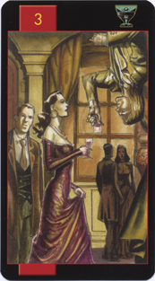 Gothic Tarot of Vampires, Three of Cups