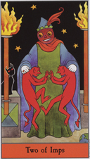 Halloween Tarot, 2 of Imps