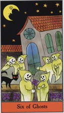 Halloween Tarot, 6 of Ghosts