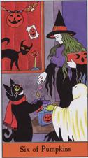 Halloween Tarot, 6 of Pumpkins