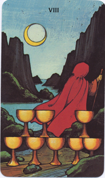 Morgan-Greer Tarot, Eight of Cups