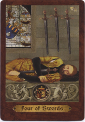 Touchstone Tarot, 4 of Swords