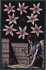 Vampire Tarot, 8 of Garlic Flowers
