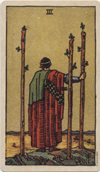 Three of Wands, Pamela Colman Smith Commemorative Set