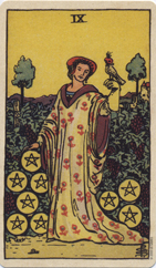 Nine of Pentacles, Pamela Colman Smith Commemorative Set